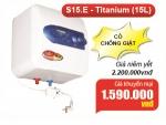 Bình Nước Nóng Picenza 15Lit S15E có chống giật Giá 1.410