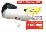Bình Nước Nóng Picenza 40 Lít S40E có chống giật Giá 2.450