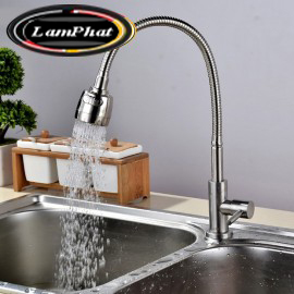 Vòi rửa bát 1 đường nước chất liệu sus304 Mã VB 35 Gia 350