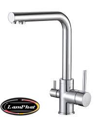 Vòi rửa bát chất liệu đồng 3 đường nước
