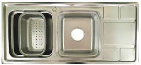 Chậu rửa bát inoc 2 hố có bàn Mã CR 04 Giá 1.500